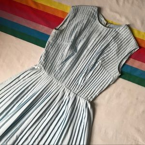 Beautiful 60s/70s Blue Pleated Dress